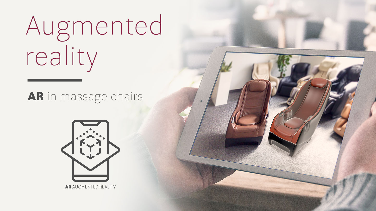 Massage chairs in augmented reality