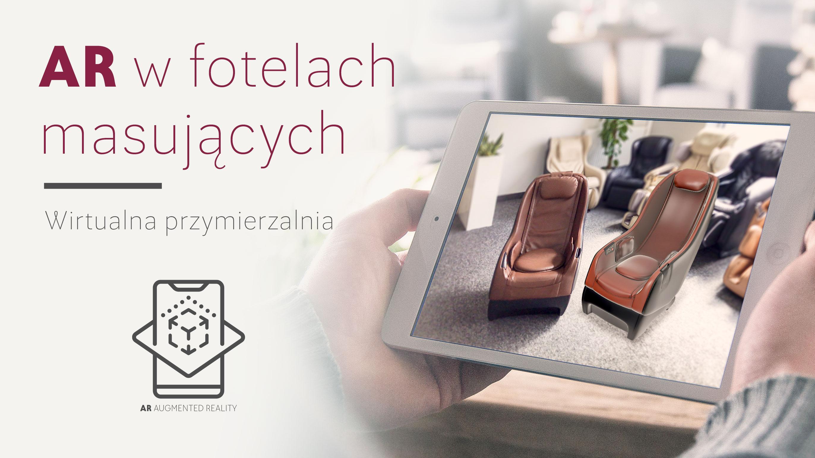 AR - rozszerzona rzeczywistość, wirtualna przymierzalnia w fotelach masujących - Rest Lords