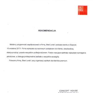 Rekomendacja Concept House
