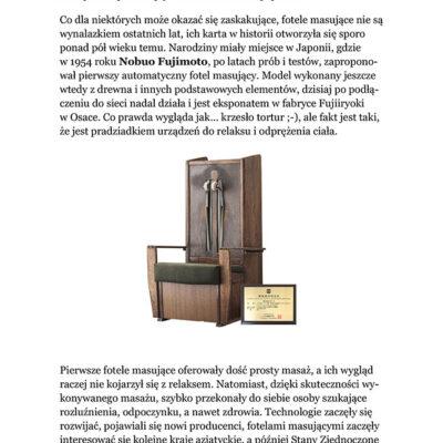 E-book o najstarszym fotelu z masażem