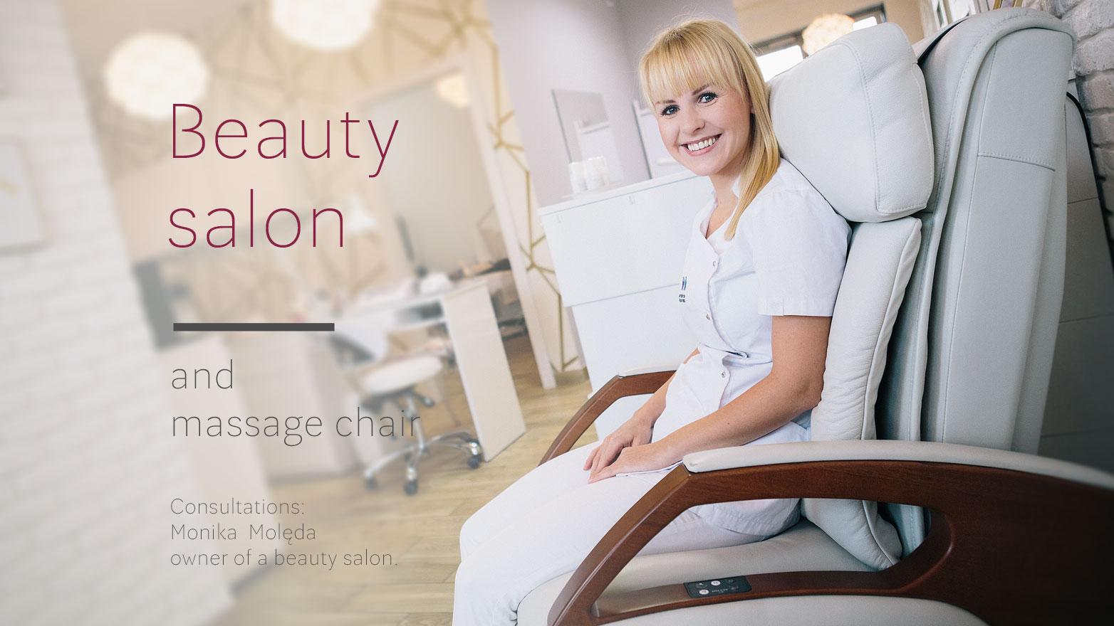 Massage chair in beauty salon