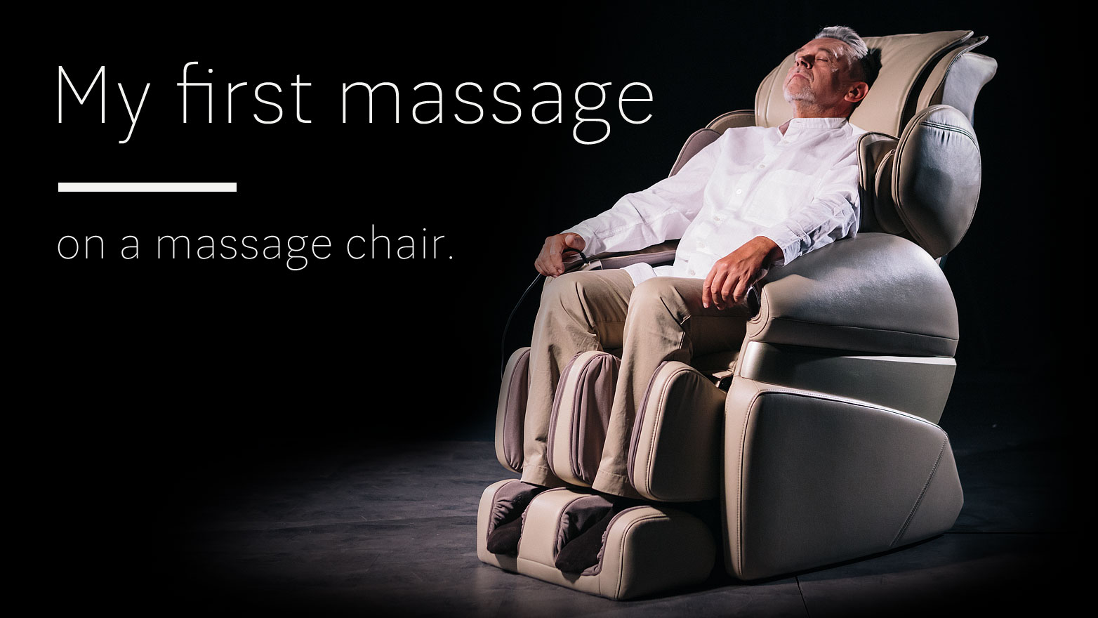 First massage on massage chair