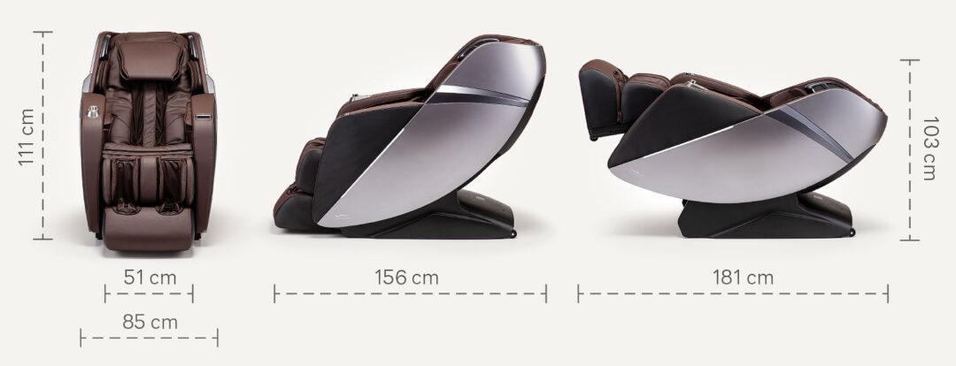 Esclusivo 2 wymiary fotela masującego