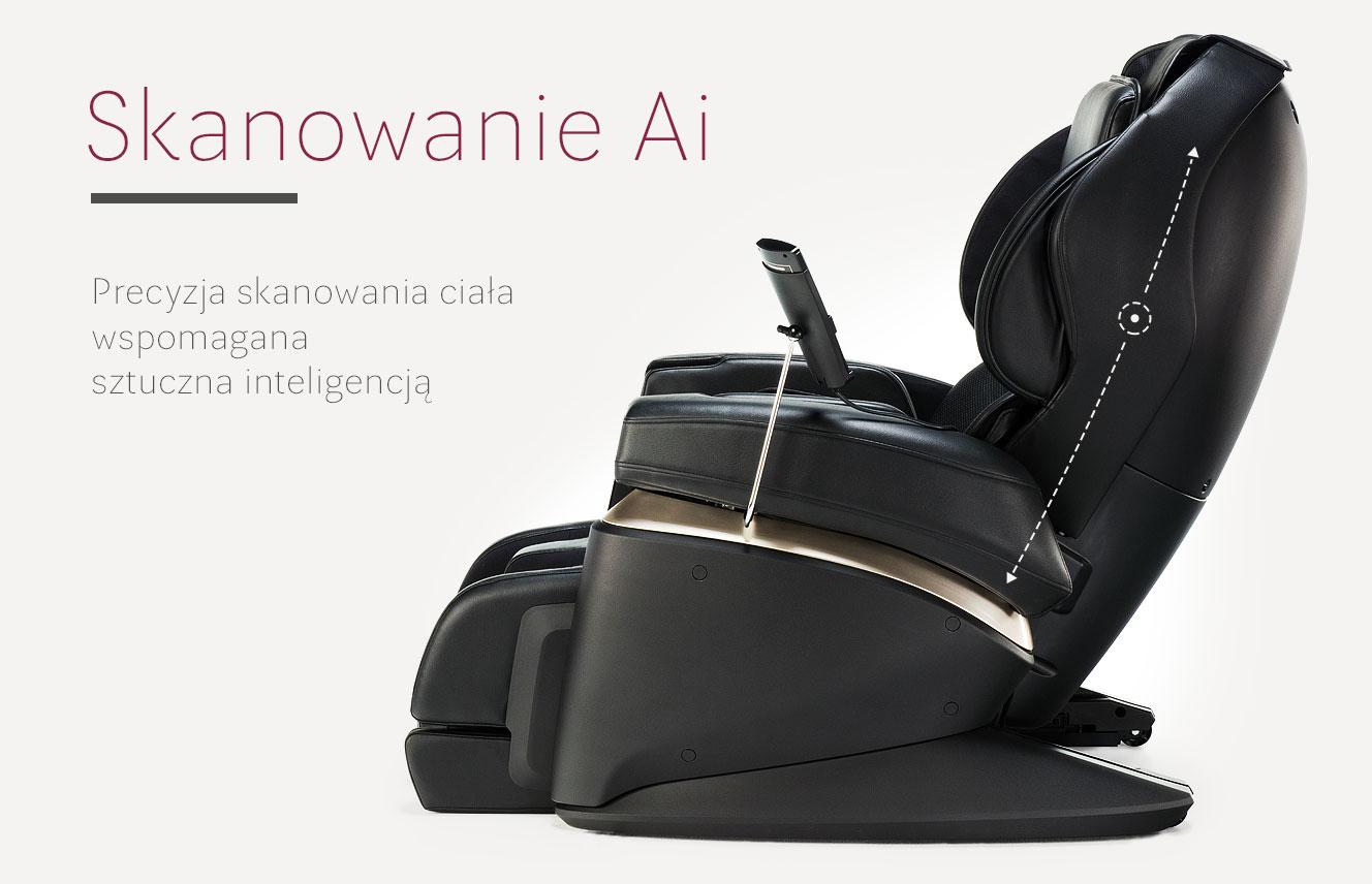 Podwójne skanowanie AI w fotelu masującym