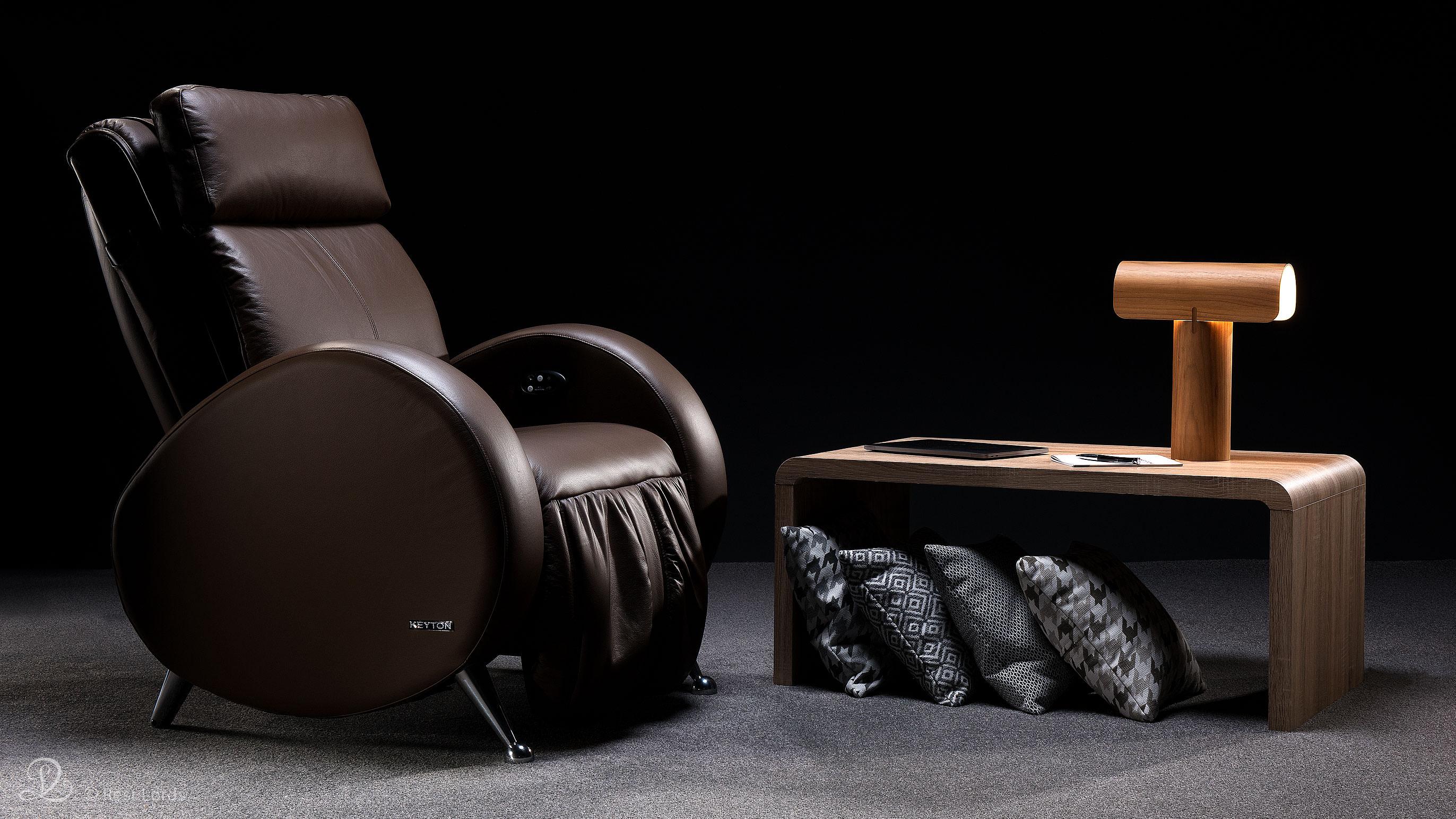 Fotel masujący Keyton H10 Retro aranżacja