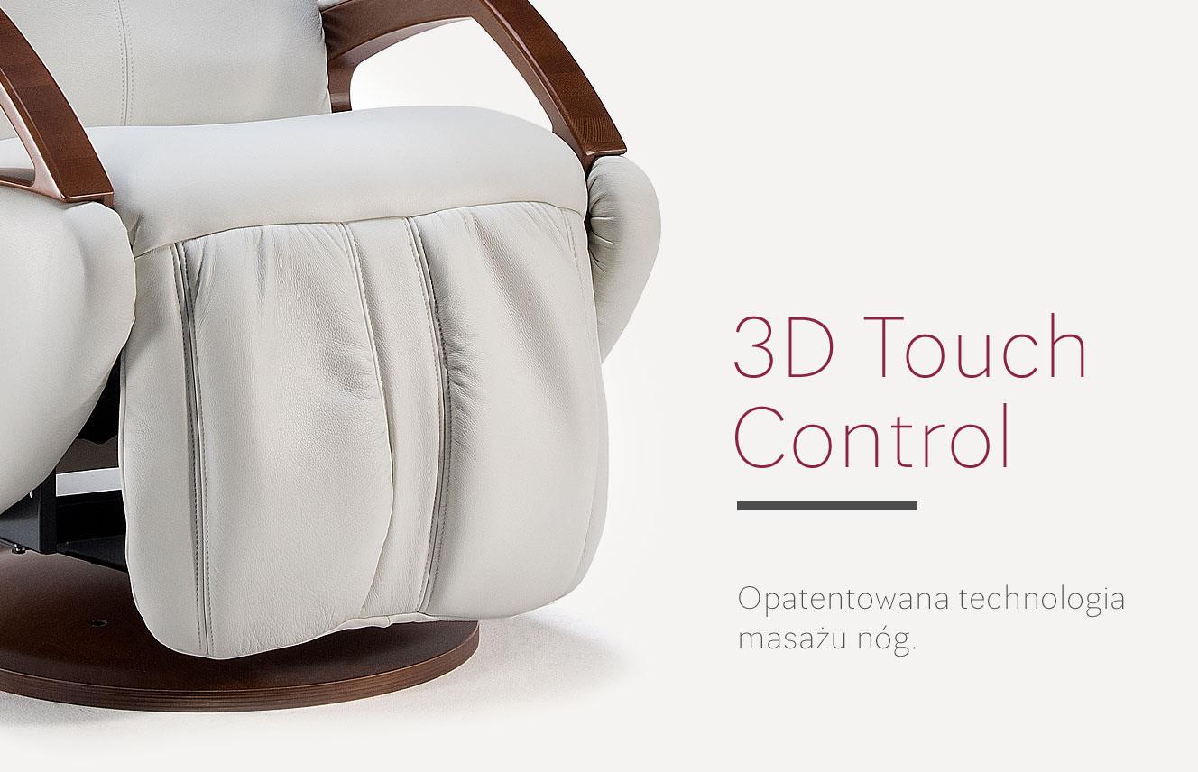 Technologia masażu 3D Touch Control fotela masującego
