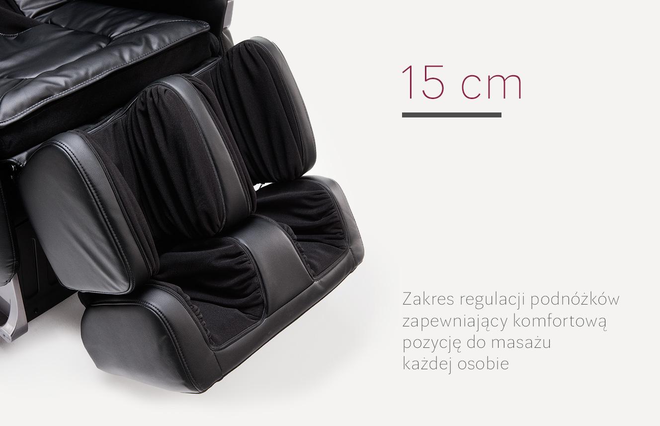 Regulacja podnóżków fotela masującego