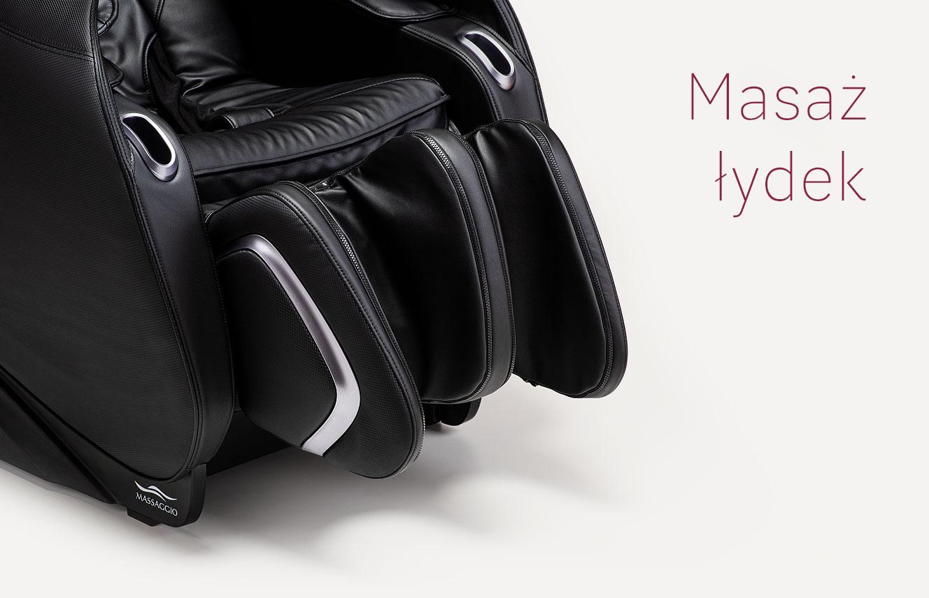 Masaż łydek w fotelu masującym