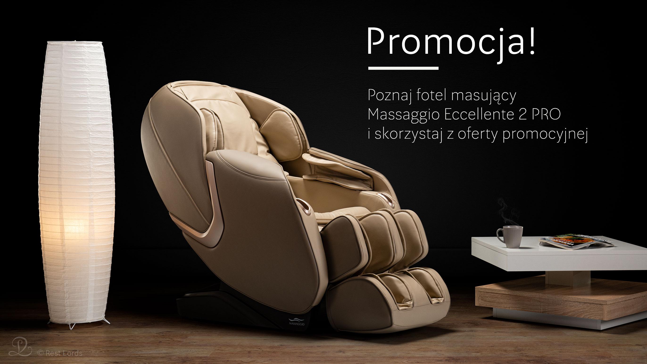 Fotel masujący Massaggio Eccellente 2 PRO promocja wyprzedaż