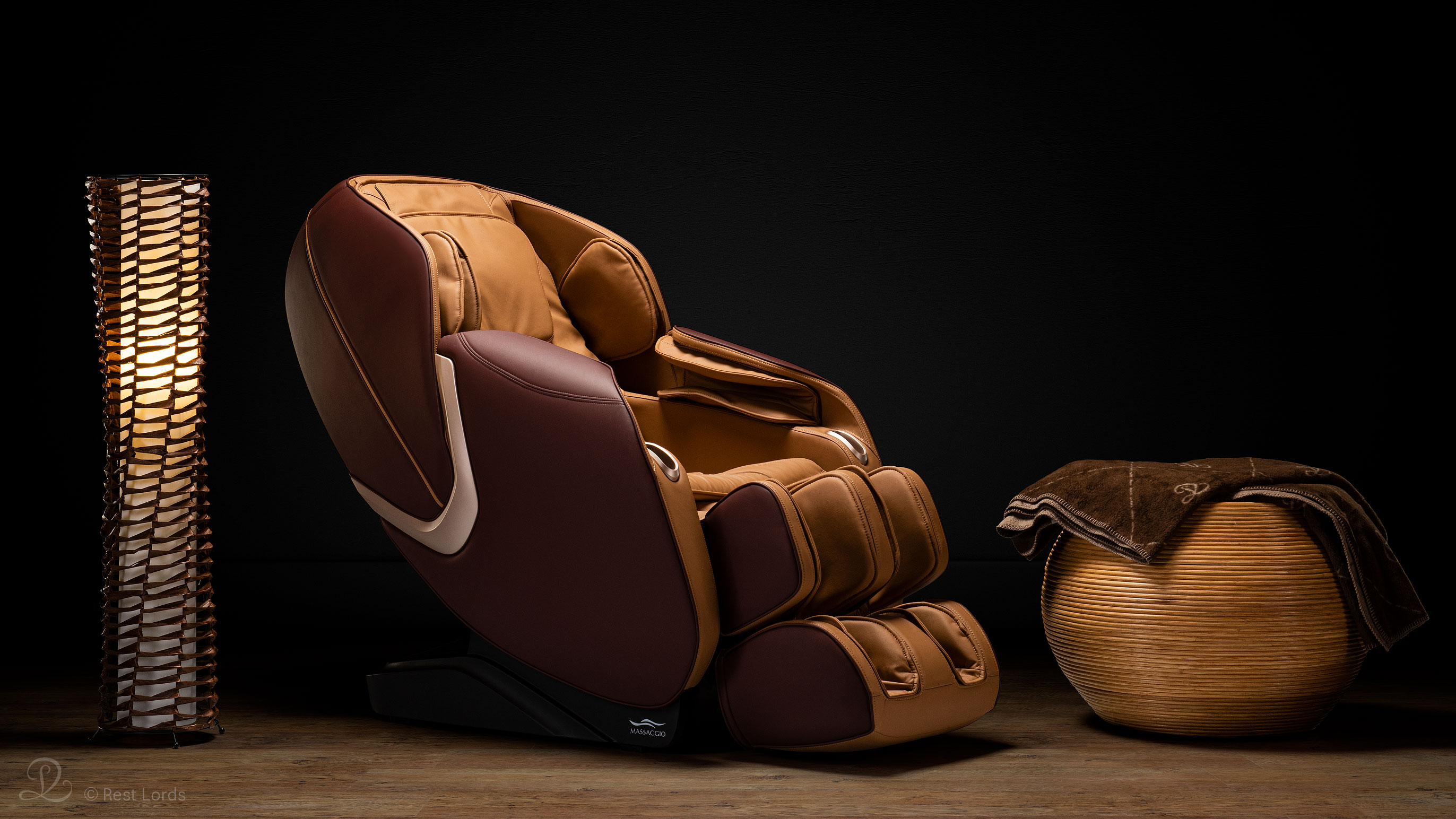 Fotel masujący Massaggio Eccellente 2 PRO karmel-mahoń