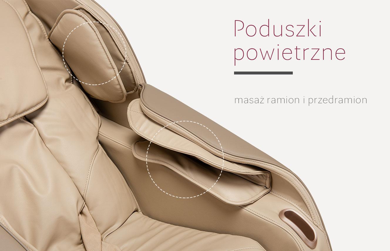 Poduszki powietrzne w modelu Massaggio Eccellente 2 PRO