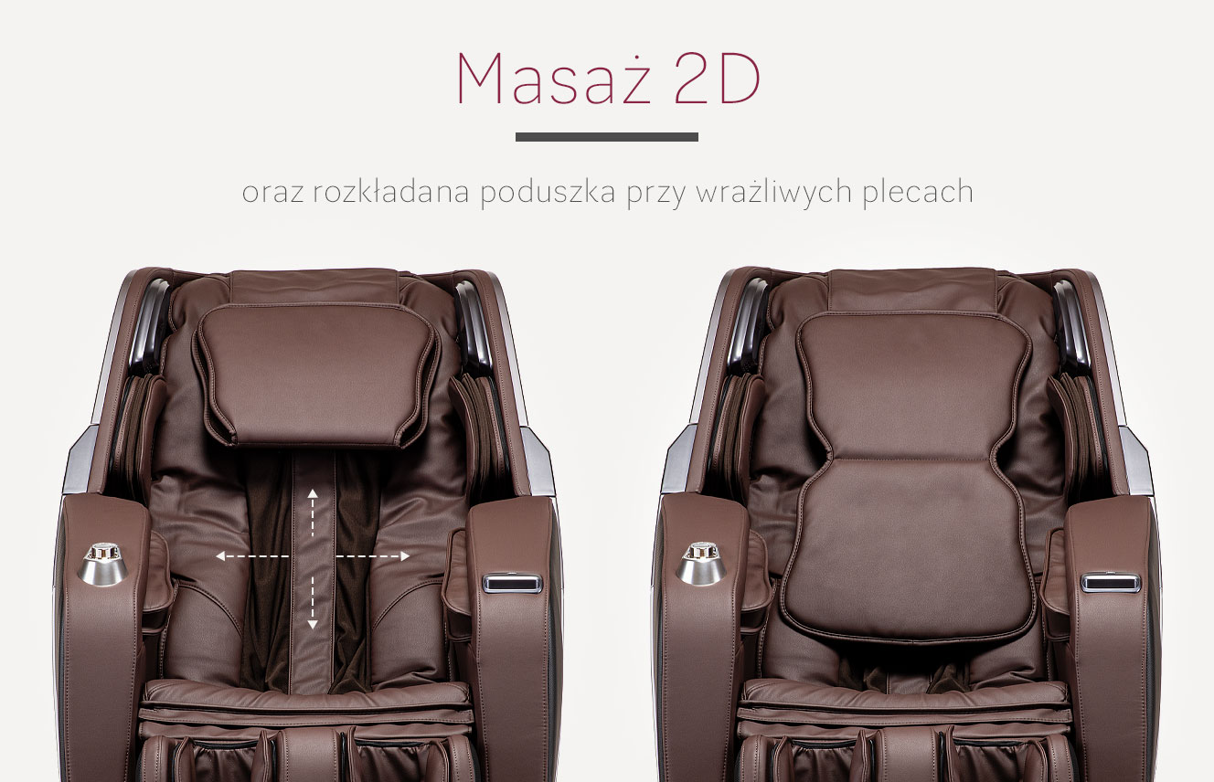 Masaż 2D w fotelu do masażu Massaggio Esclusivo 2