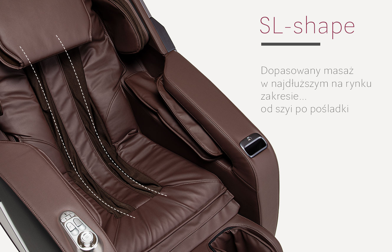 System SL-Shape w fotelu do masażu