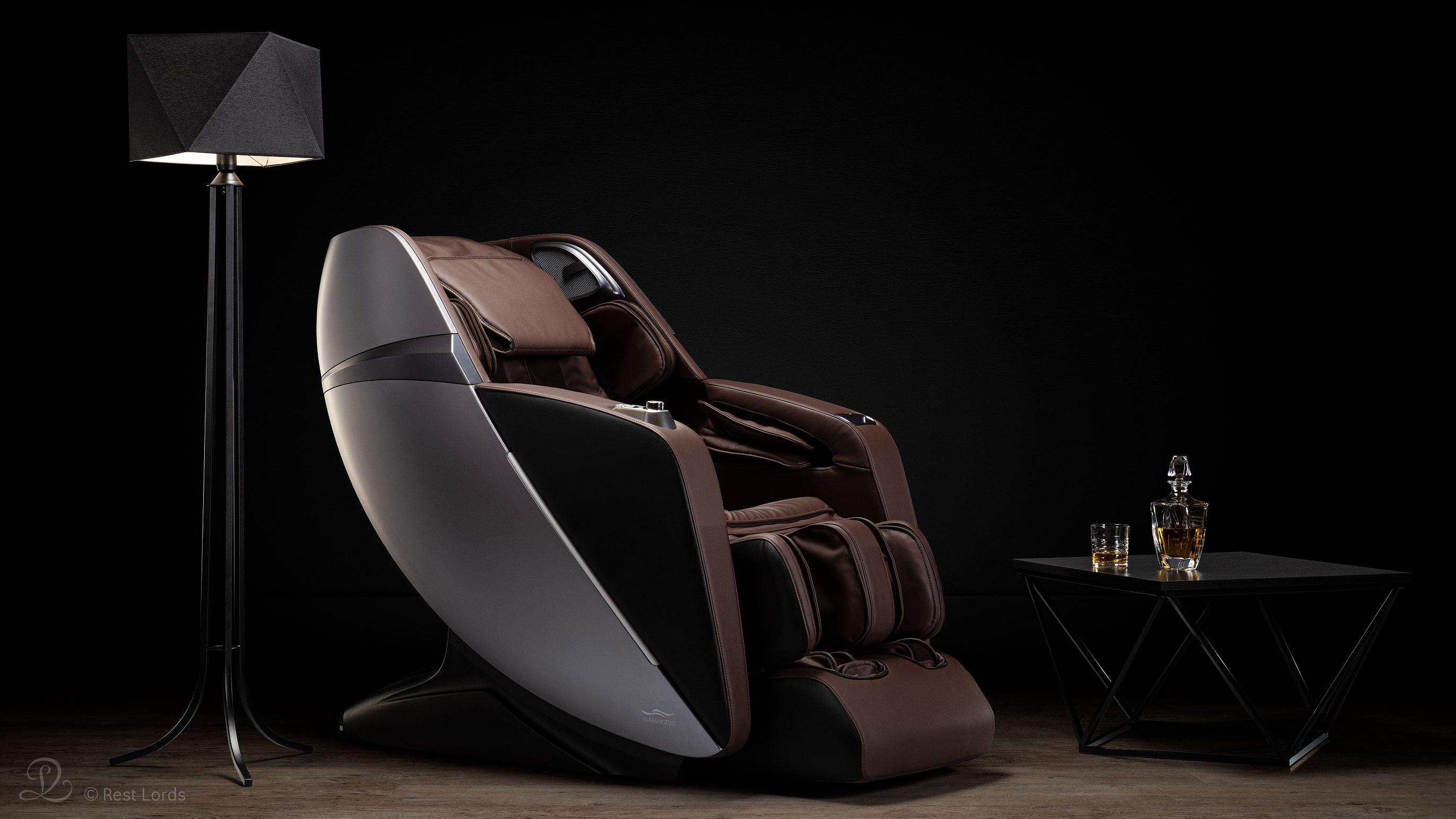 Fotel masujący Esclusivo 2 brązowy