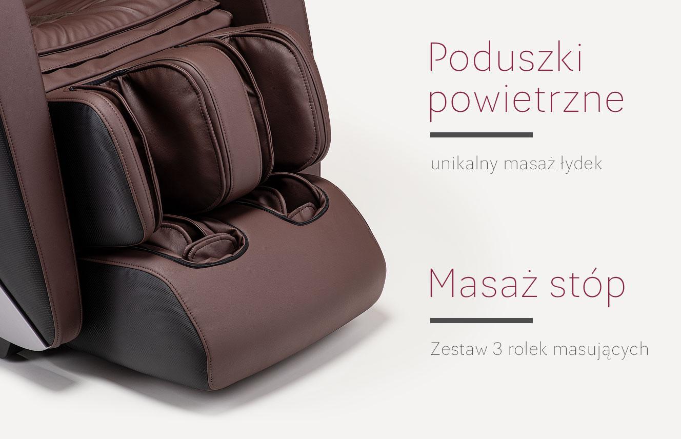 Masaż nóg w fotelu masujący Massaggio Esclusivo 2