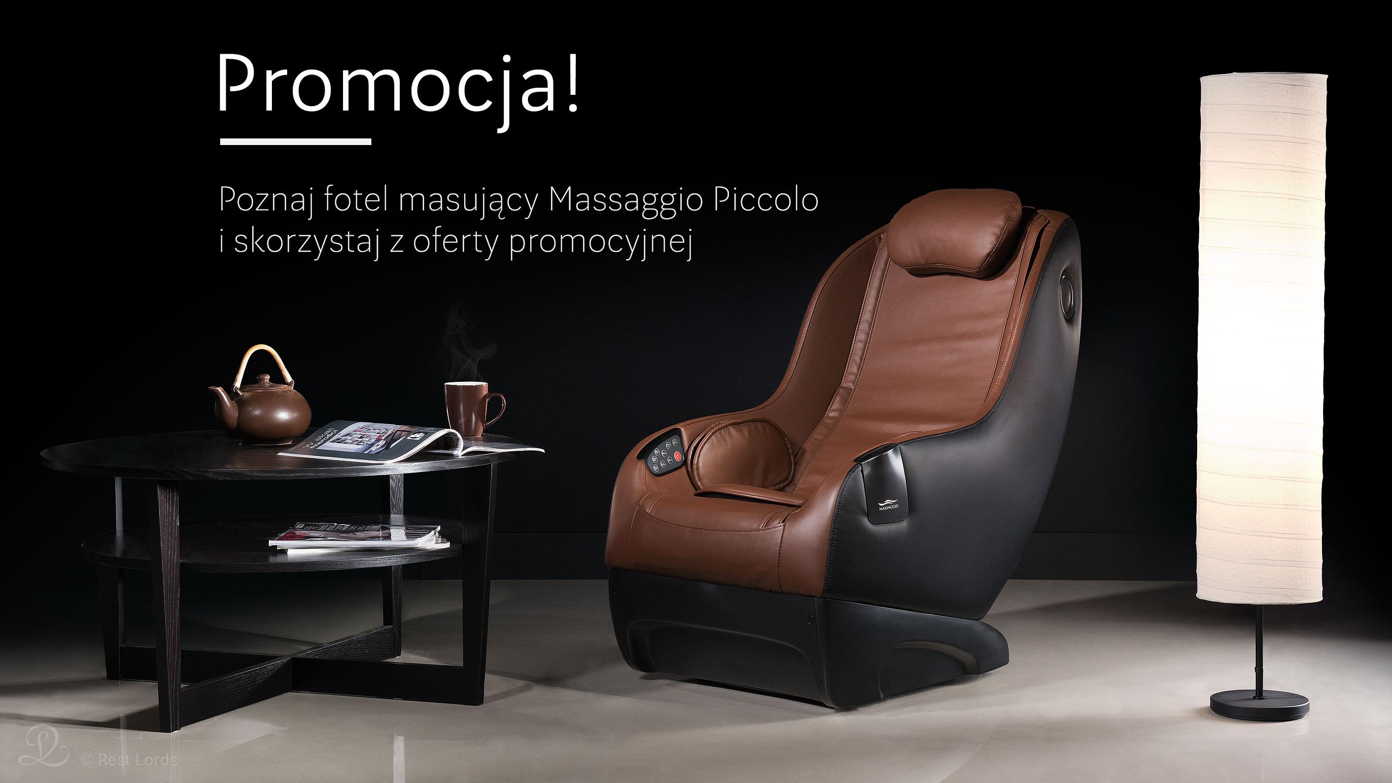 Fotel masujący Massaggio Piccolo promocja wyprzedaż