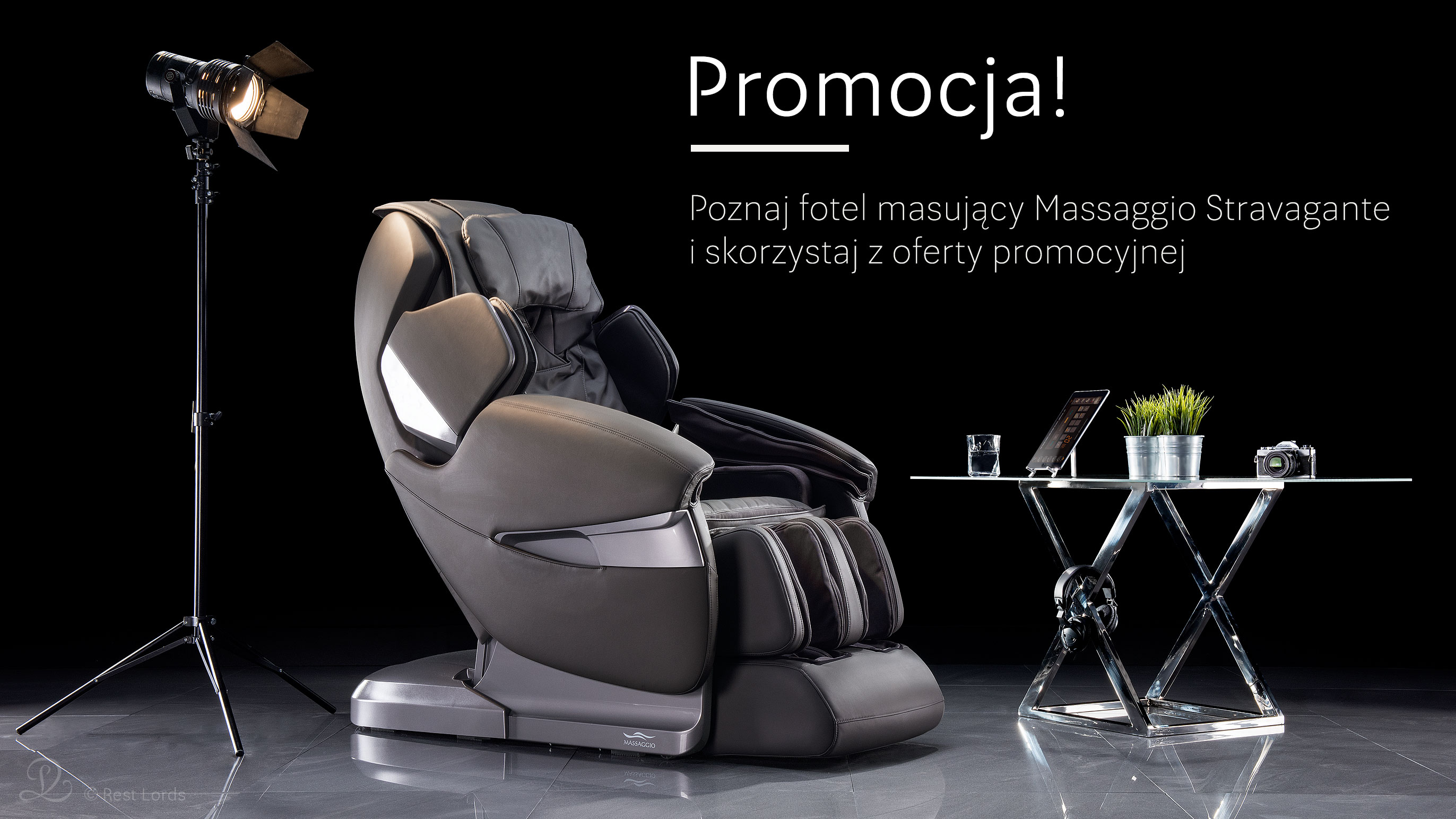Oferta promocyjna Fotel masujący Massaggio Stravagante promocja wyprzedaż