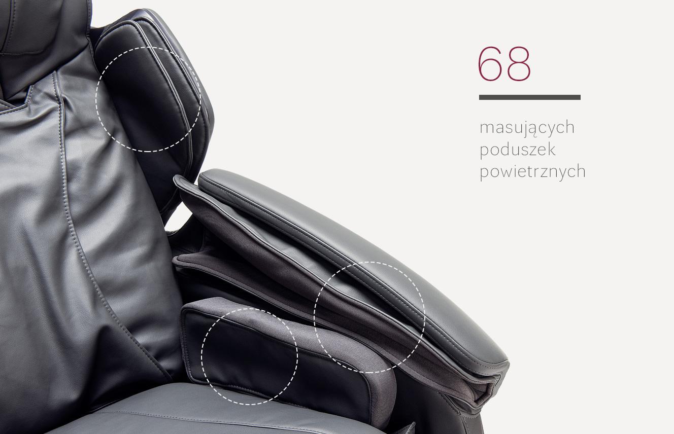 Masujące poduszki w fotelu masującym Stravagante