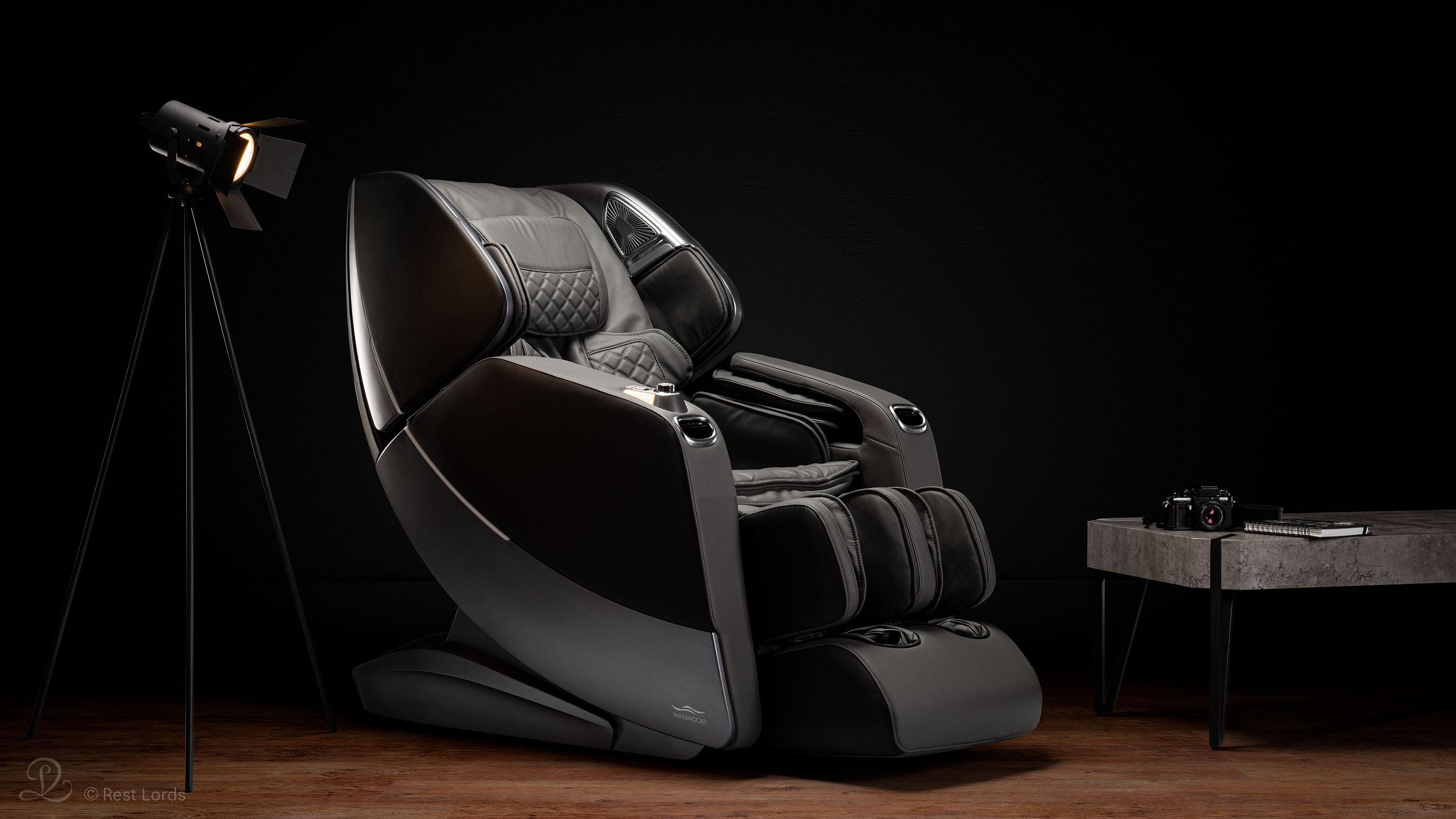Czarny fotel masujący Massaggio Stravagante 2