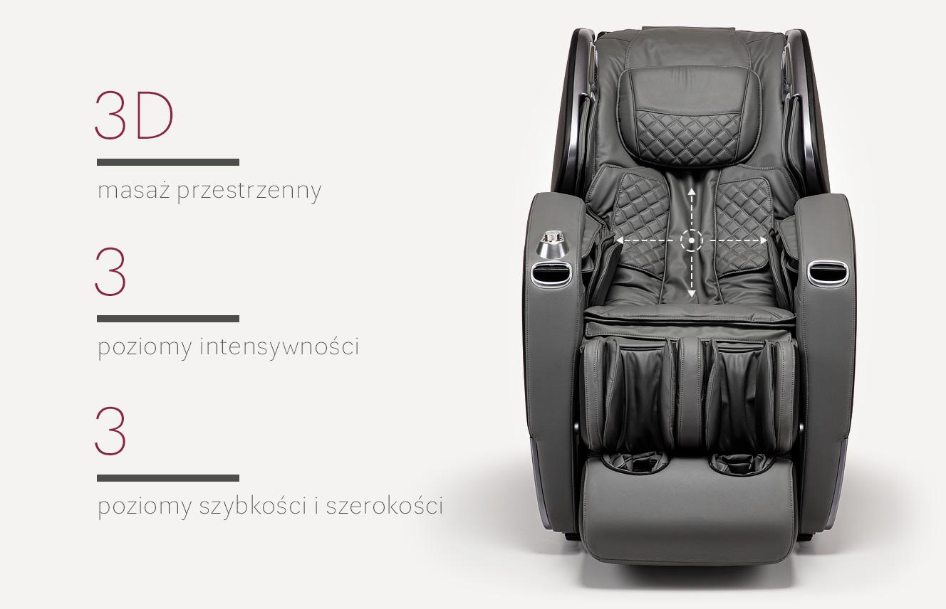 Masaż 3D w fotelu masującym Massaggio Stravagante 2