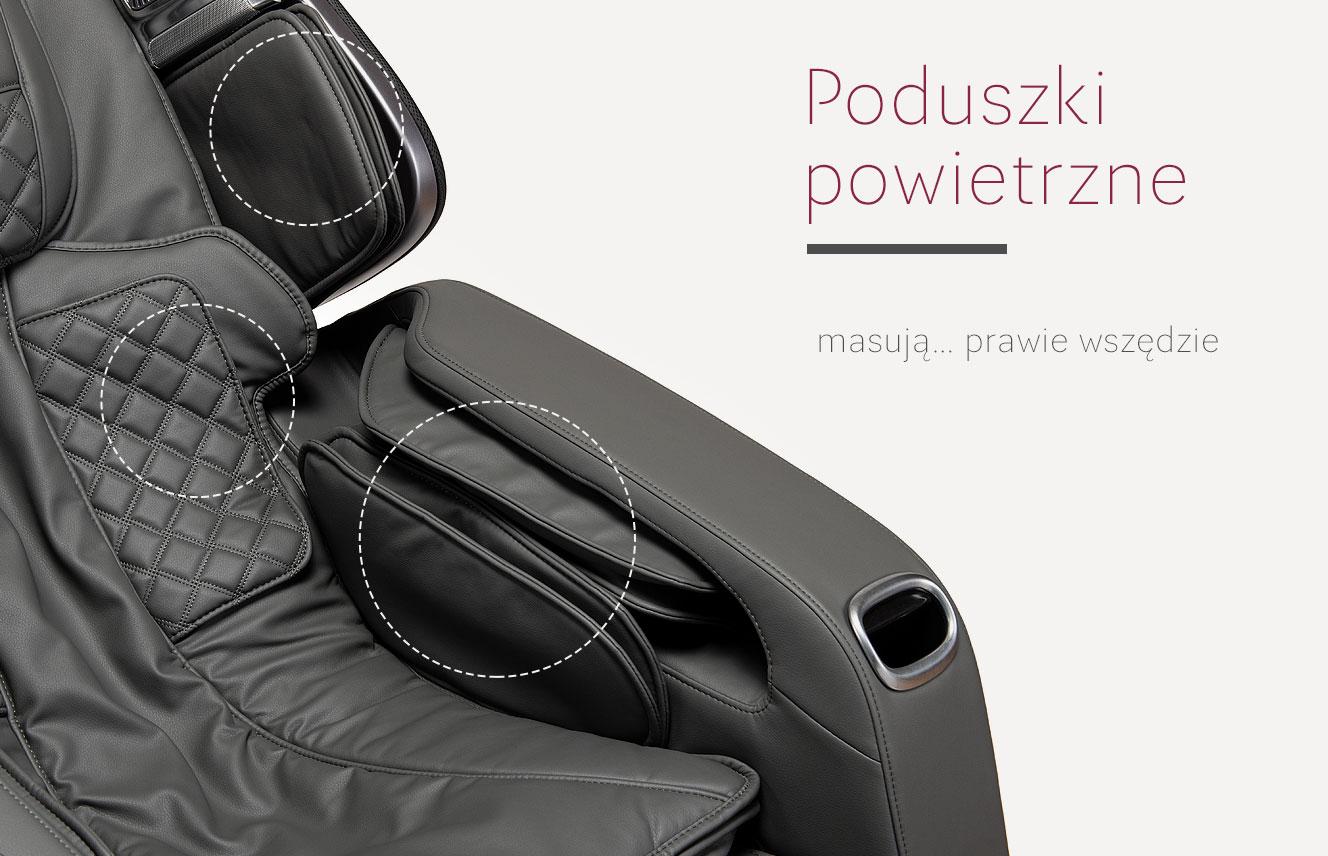 Poduszki powietrzne w fotelu do masażu Stravagante 2