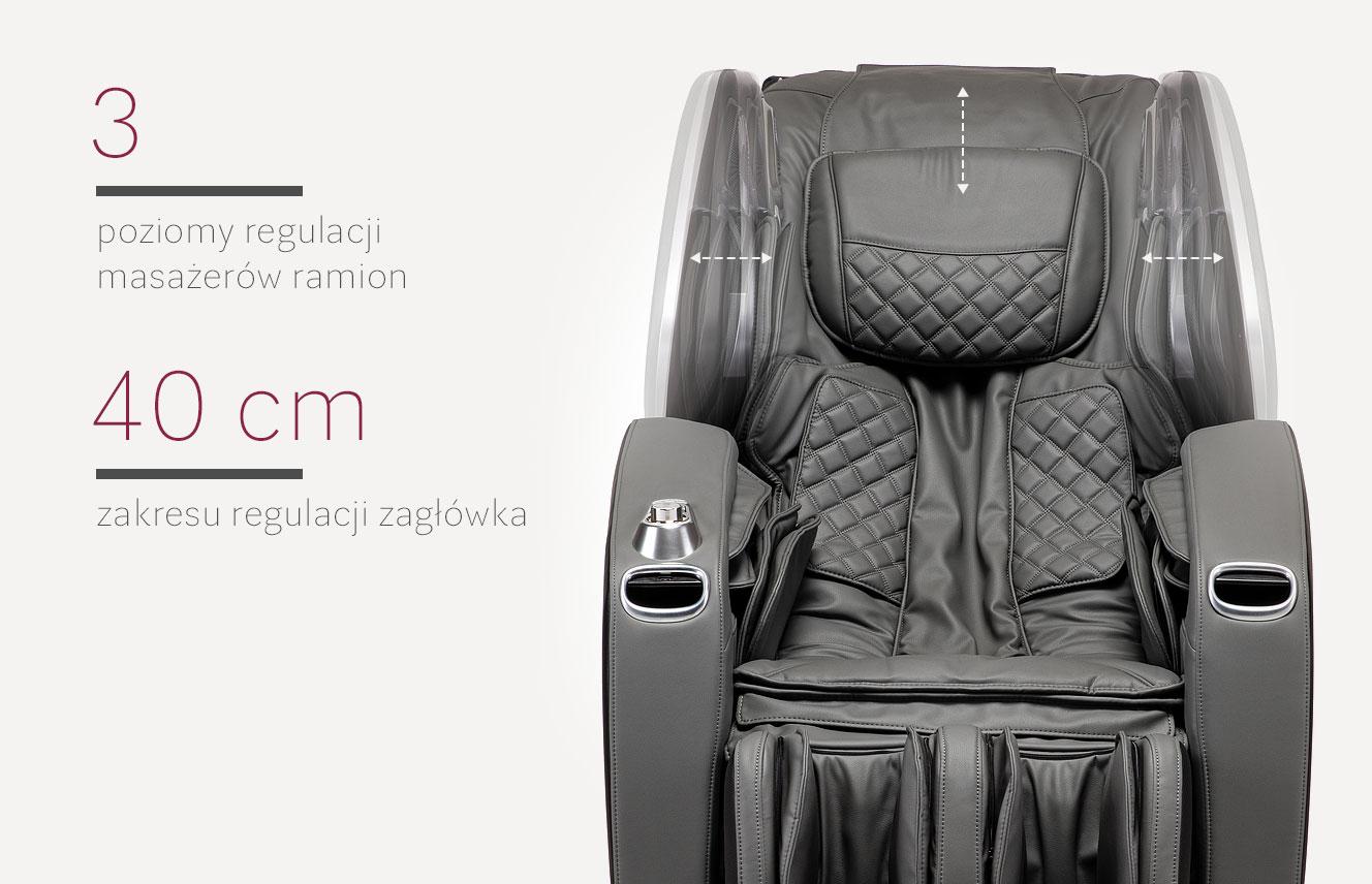 Regulacja masażu w fotelu masującym Massaggio Stravagante 2