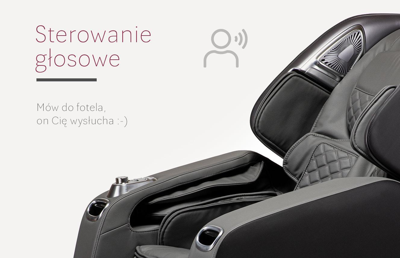 Sterowanie głosowe w fotelu z masażem Stravagante 2