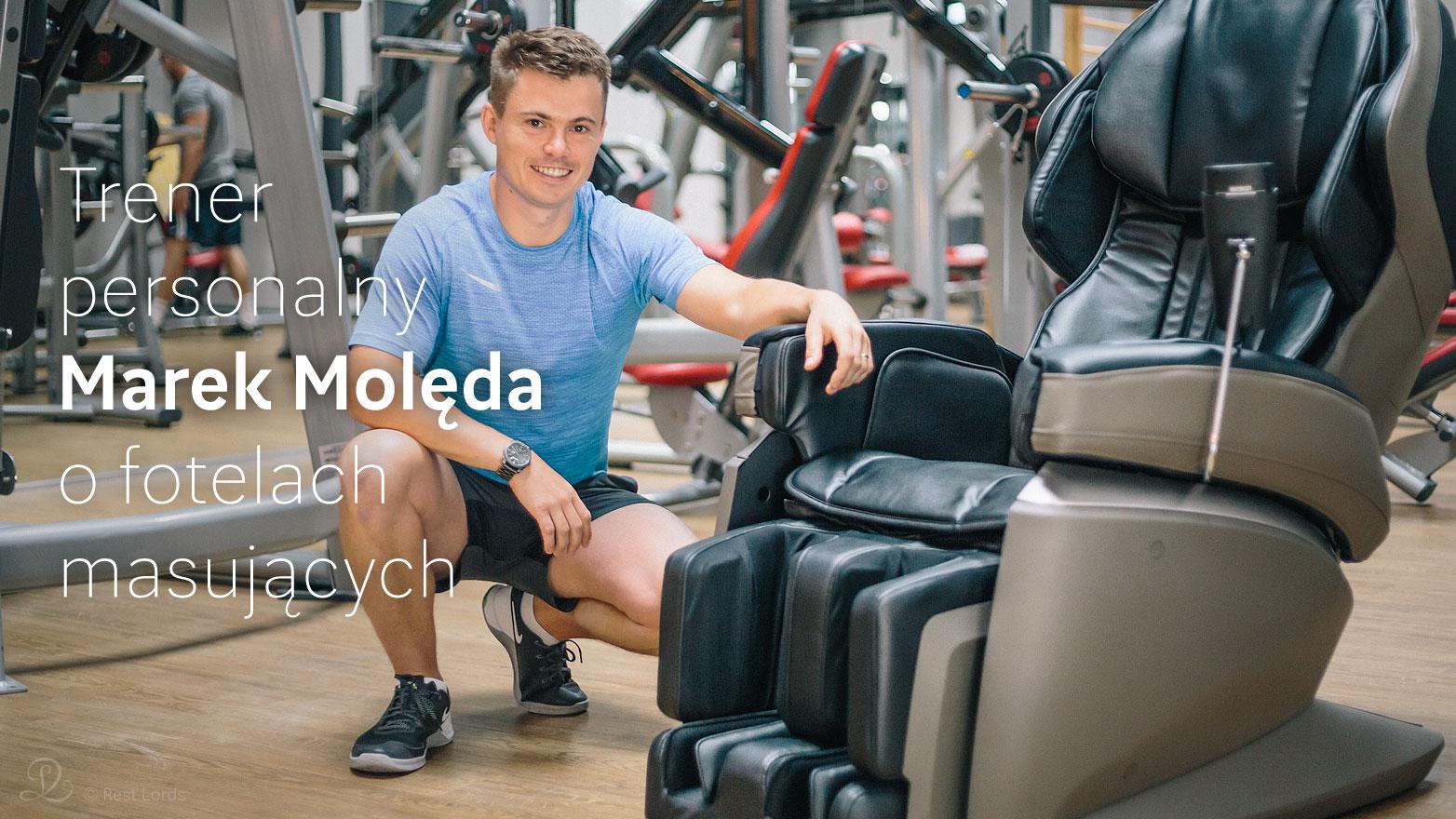 Fotel masujący na siłowni