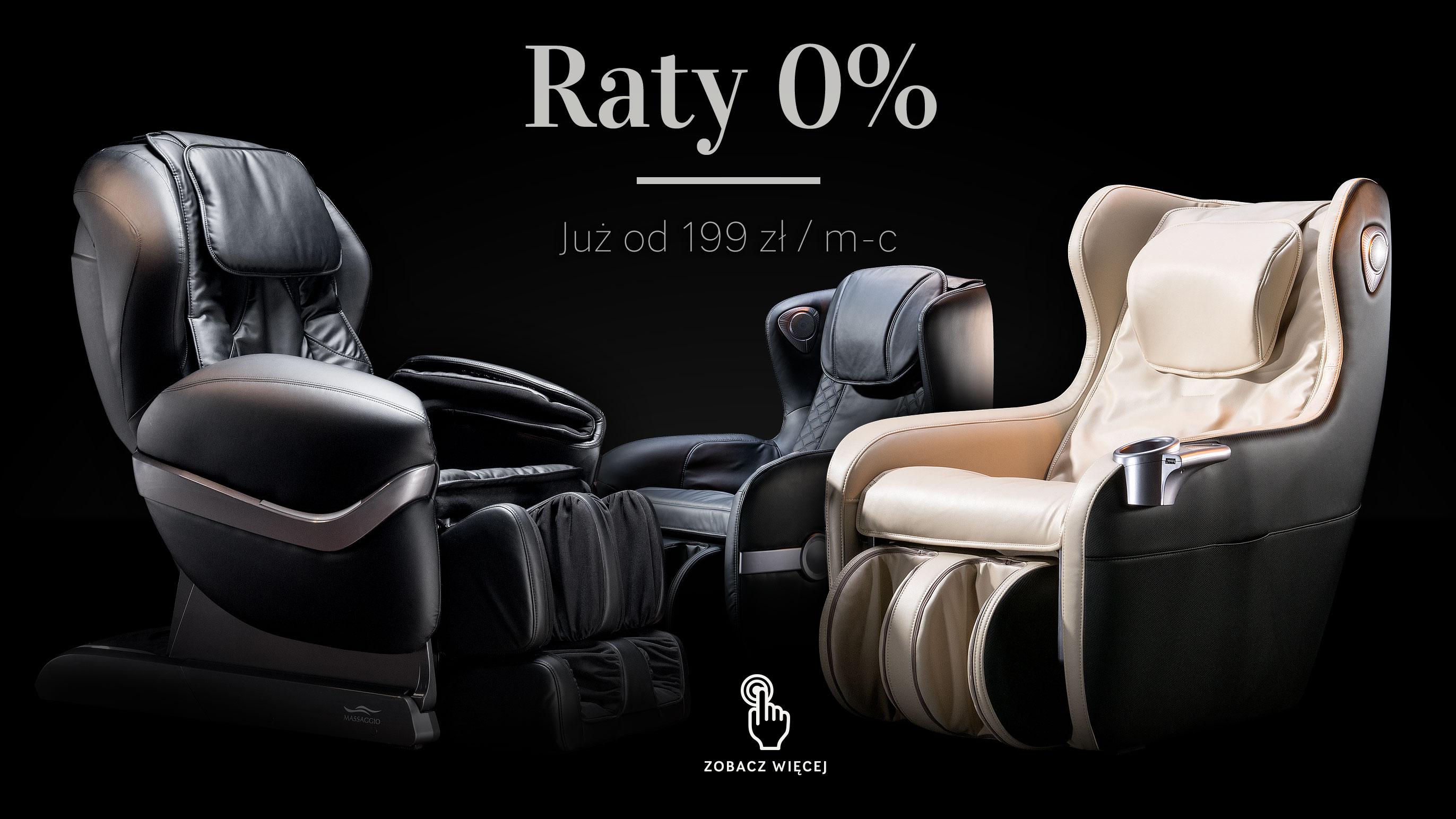 Fotel masujący i raty 0%
