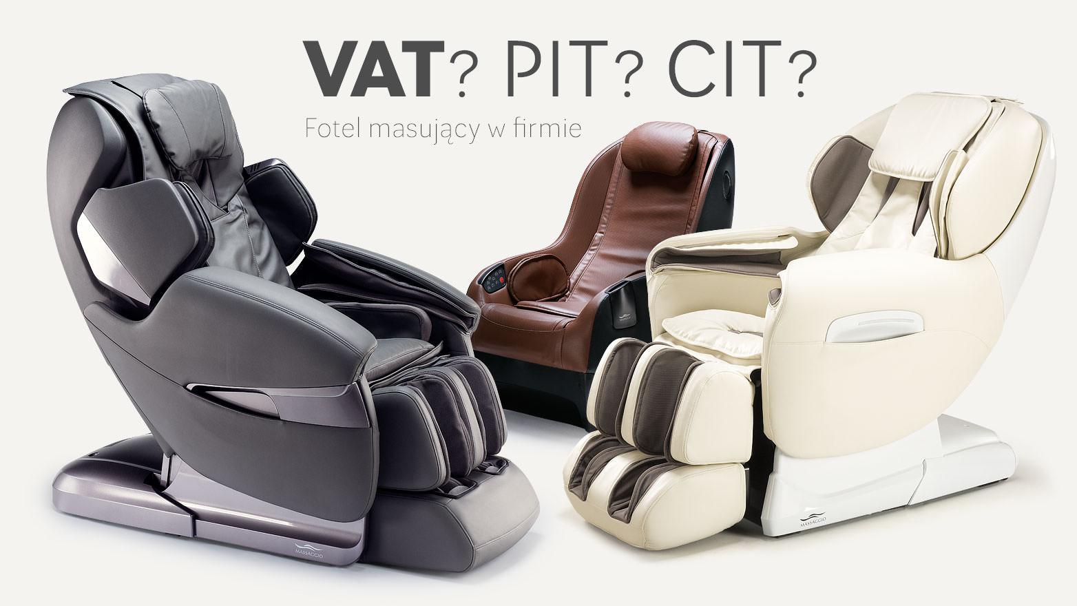 Fotel masujący w kosztach firmy