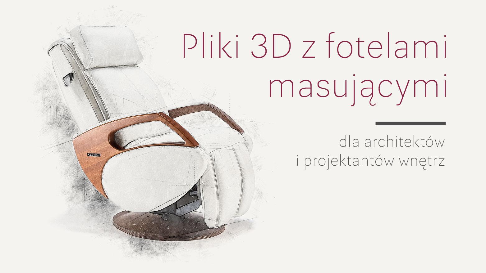 Fotel masujący pliki 3D dla architektów