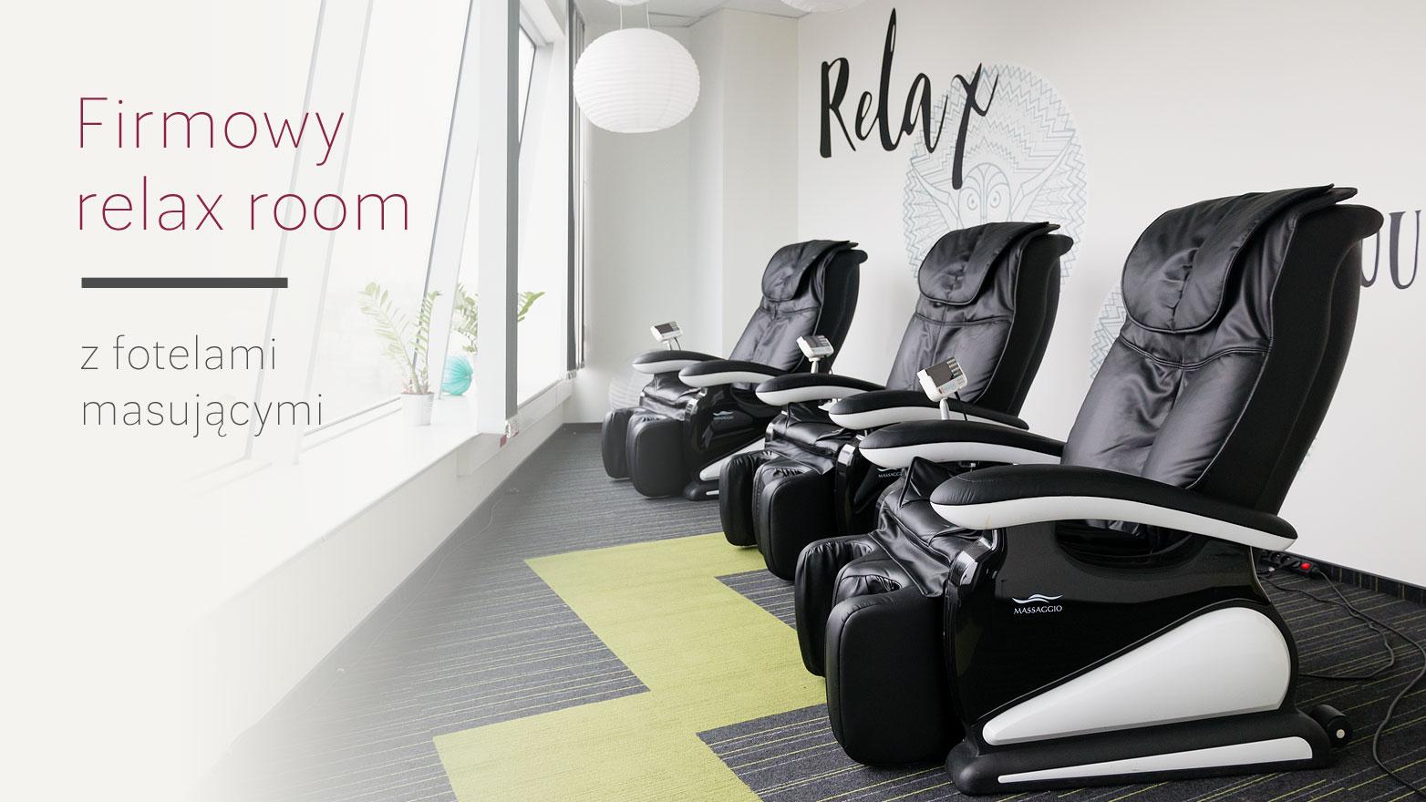 Fotele masujące Rest Lords w relax room