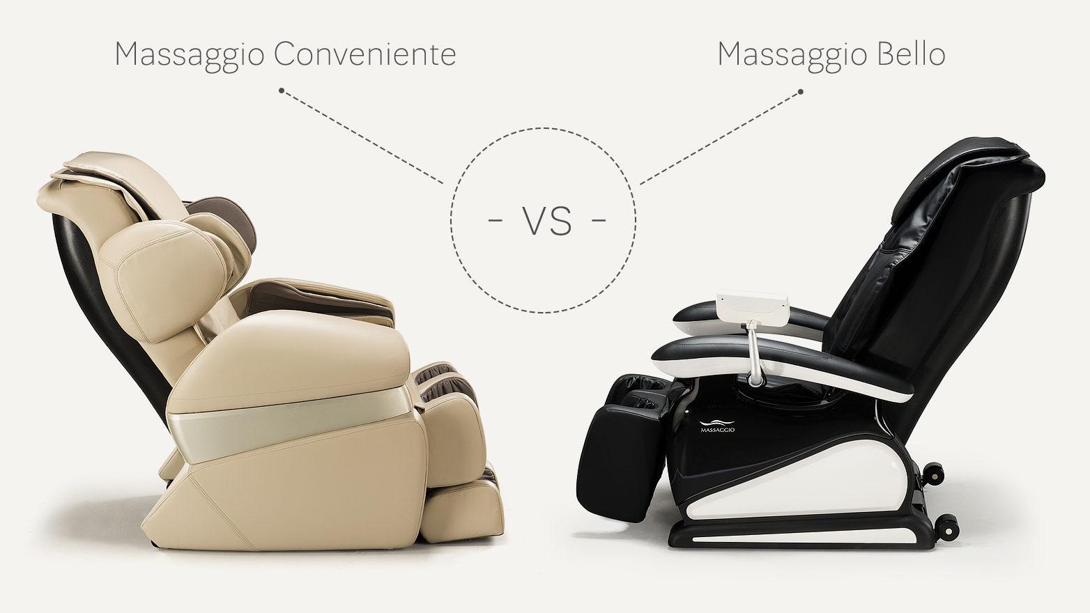 Fotele masujące Massaggio Conveniente vs Bello