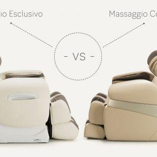 Fotele masujące Massaggio Esclusivo vs Conveniente