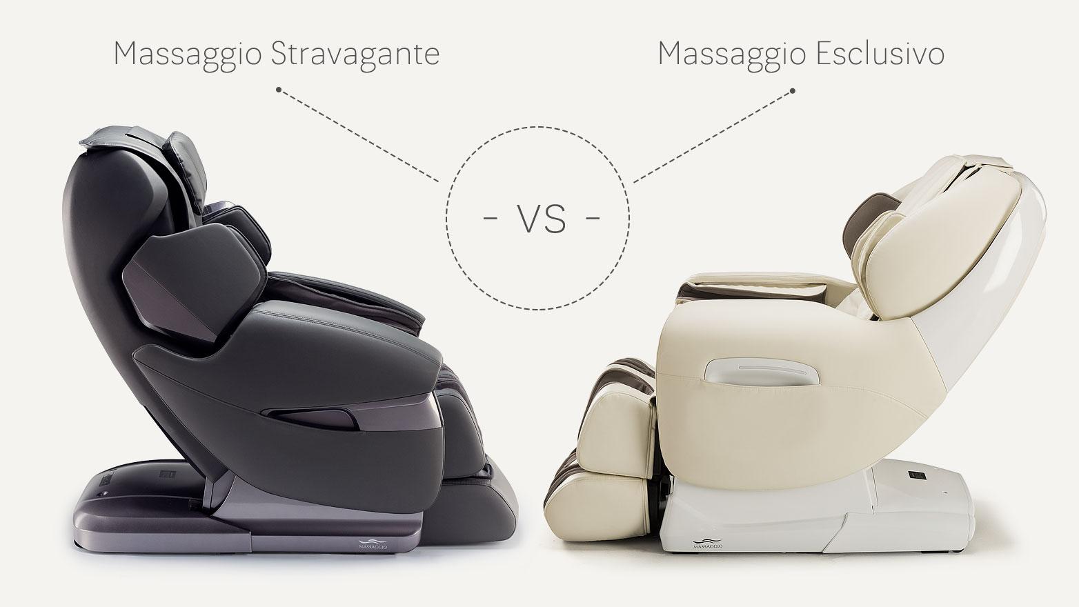 Fotele masujące Massaggio Stravagante vs Esclusivo
