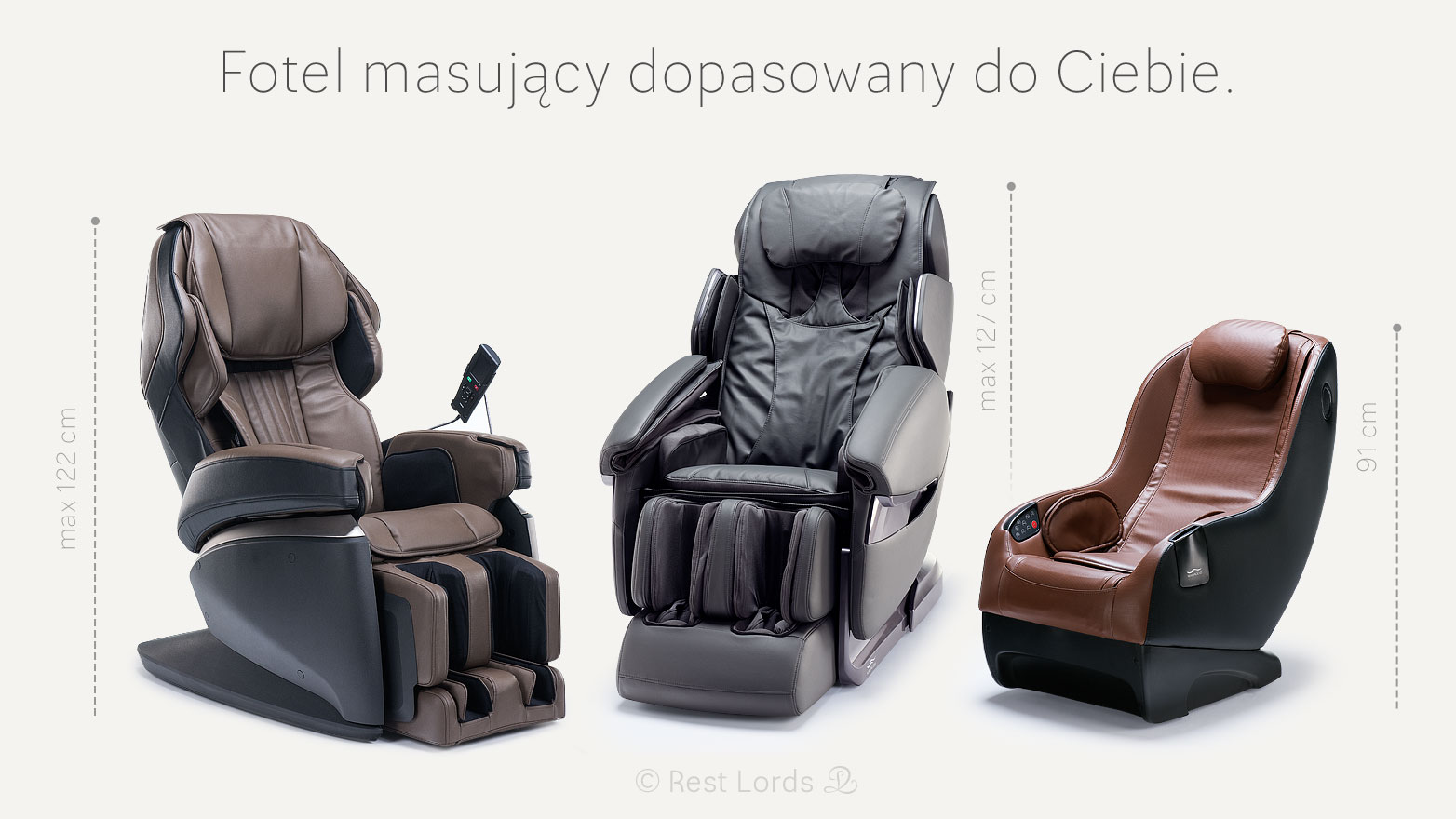 Fotele masujące waga i wzrost człowieka