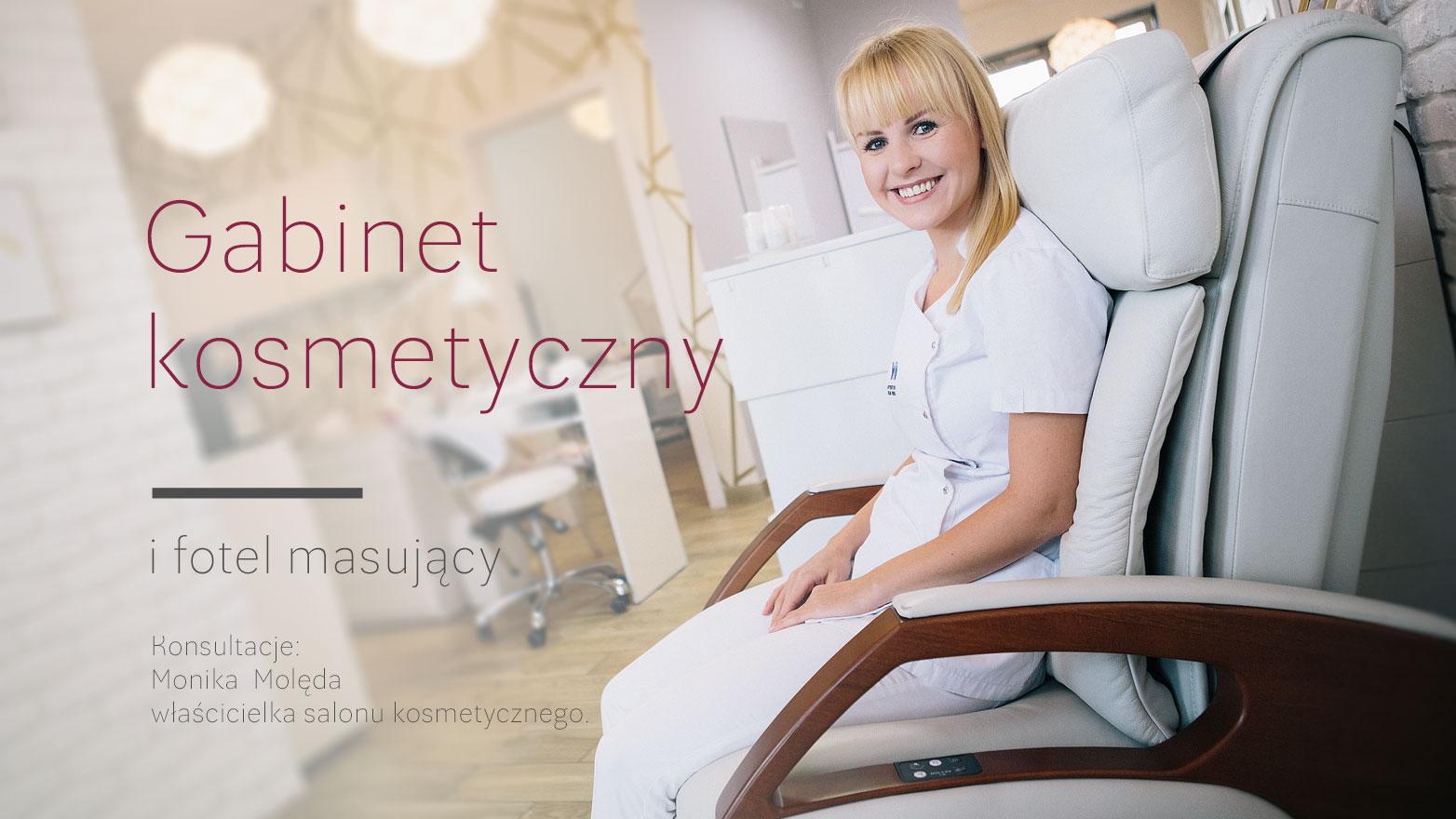 Fotel masujący w gabinecie kosmetycznym