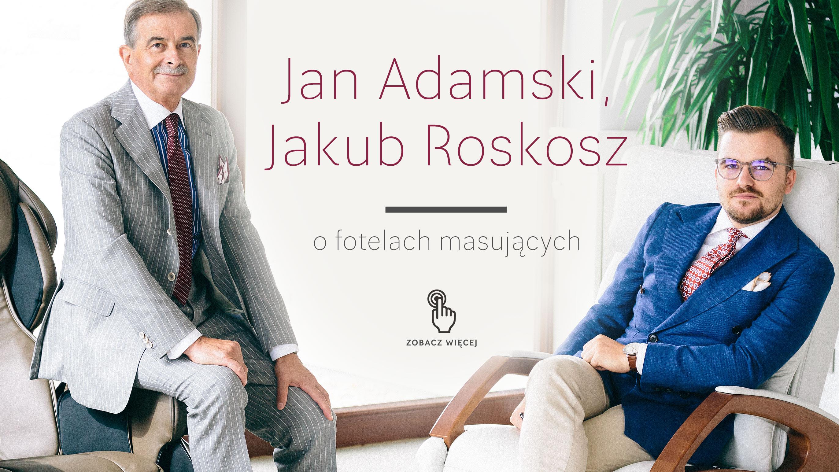 Jan Adamski i Jakub Roskosz na fotelach masujących