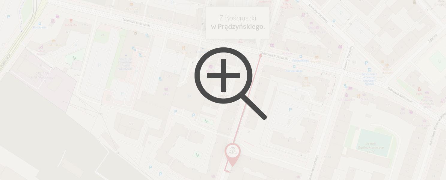 Mapa dojazdu do Rest Lords