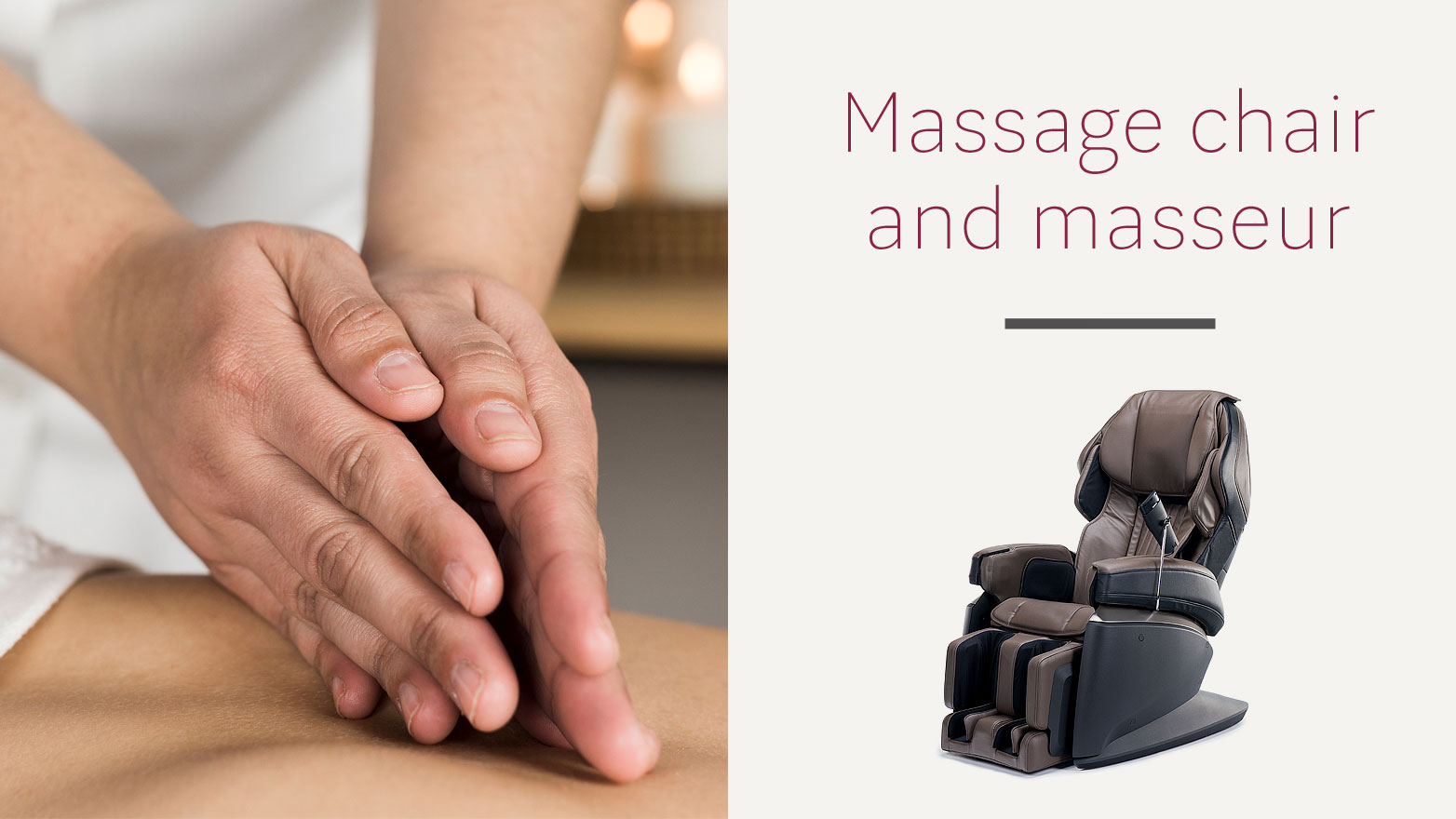 Massage chair and massage therapist