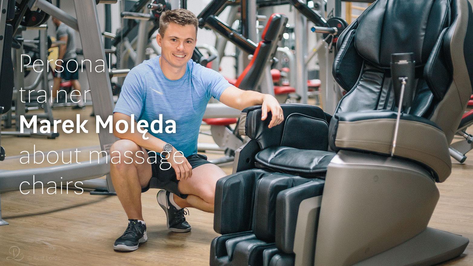 Massage chair at gym
