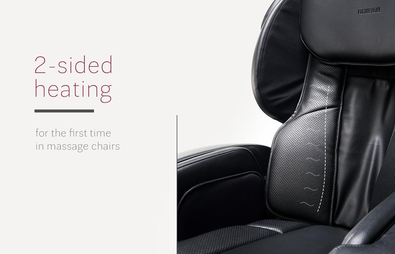 Heating on massage chair