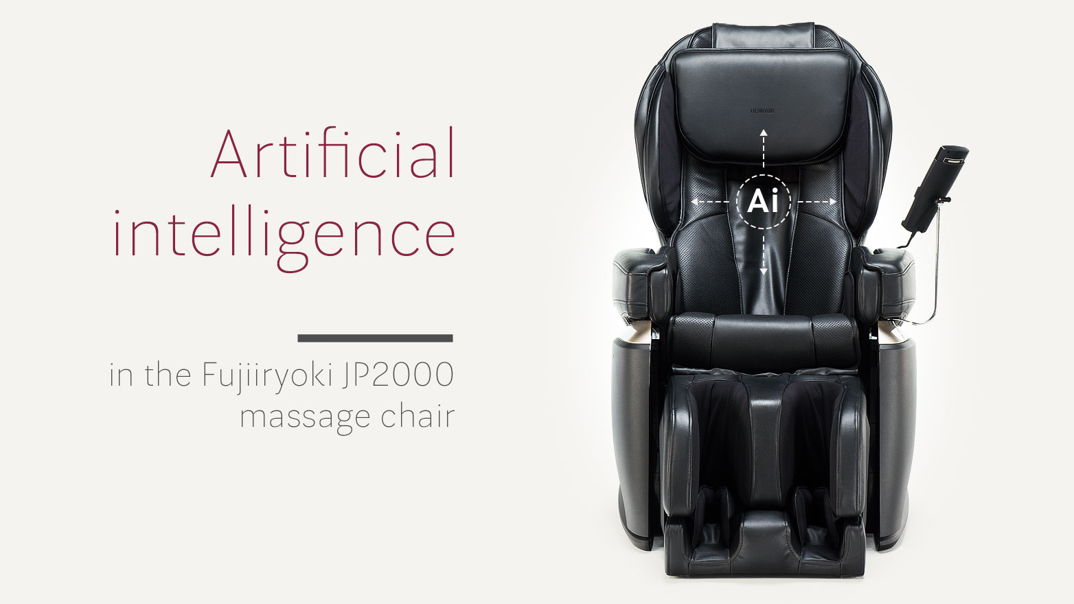 Artificial intelligence algorithm in the Fujiiryoki J2000 massage chair
