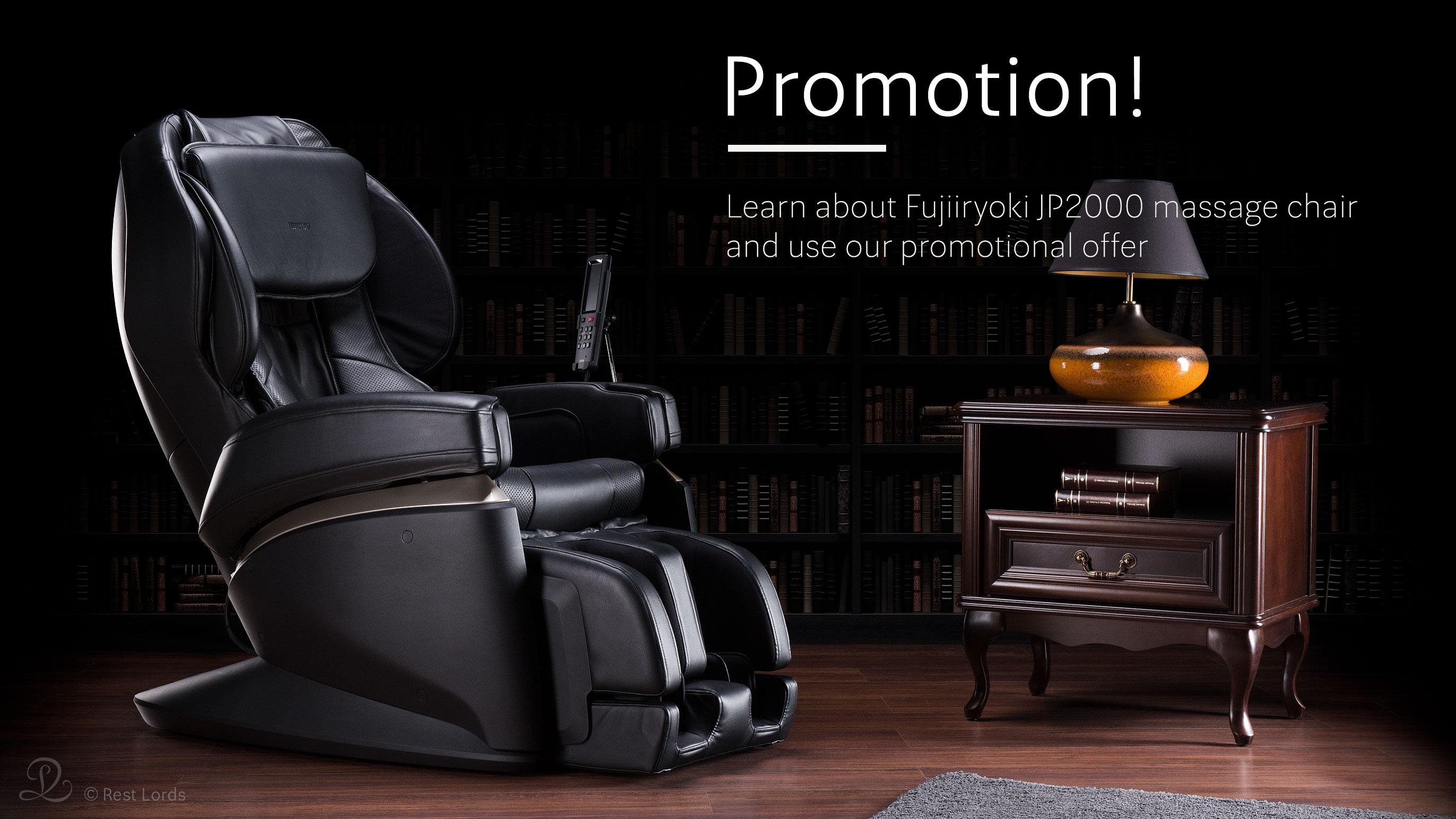 Massage chair Fujiiryoki jP2000 on sale promotion