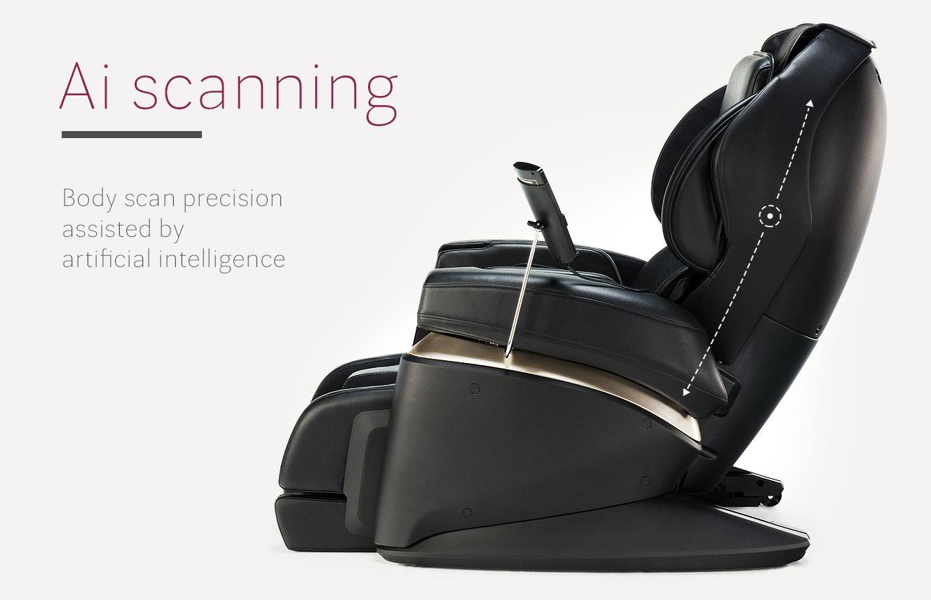Ai scanning in massage armchair JP2000
