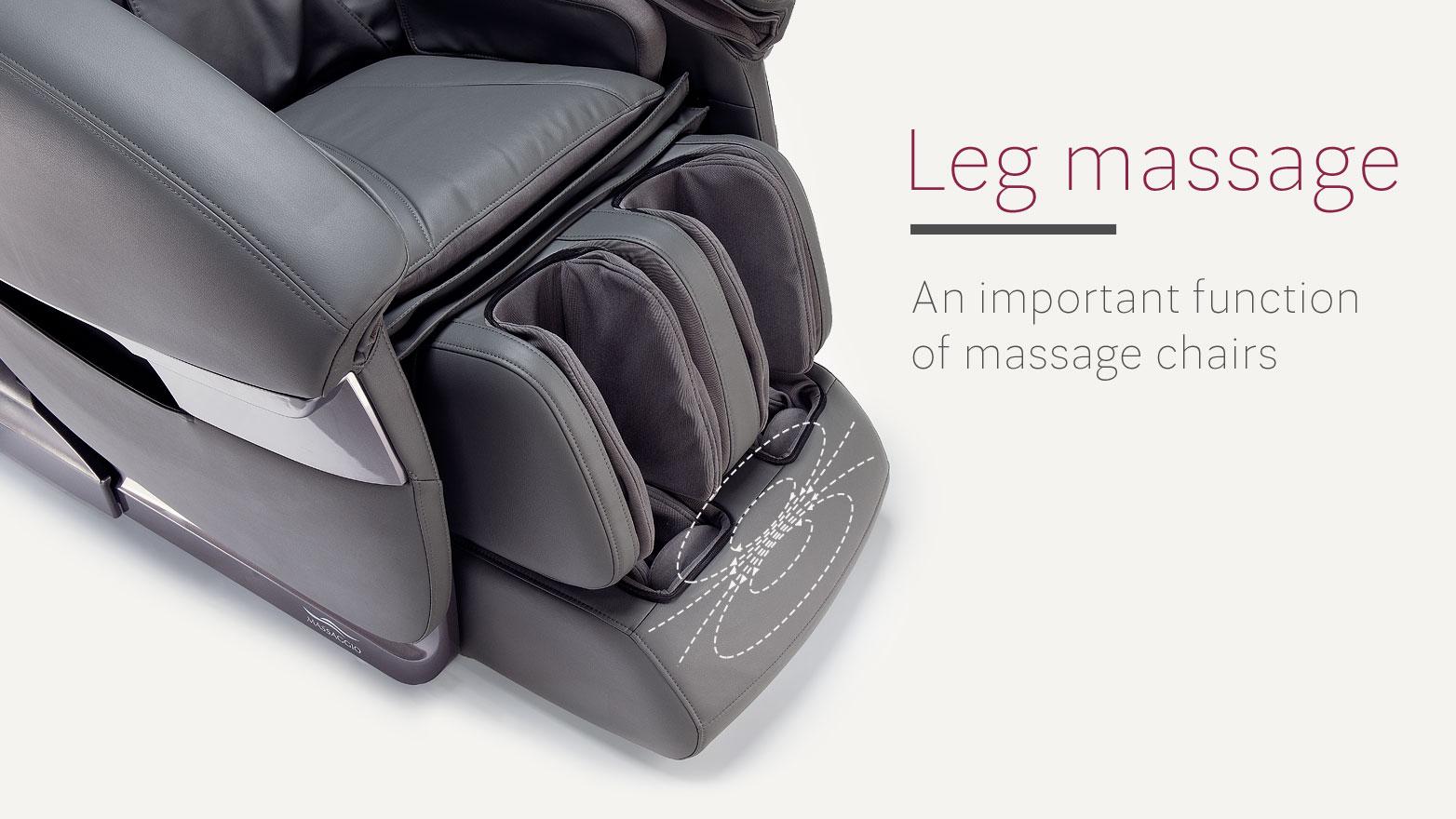 Leg massage in massage chair
