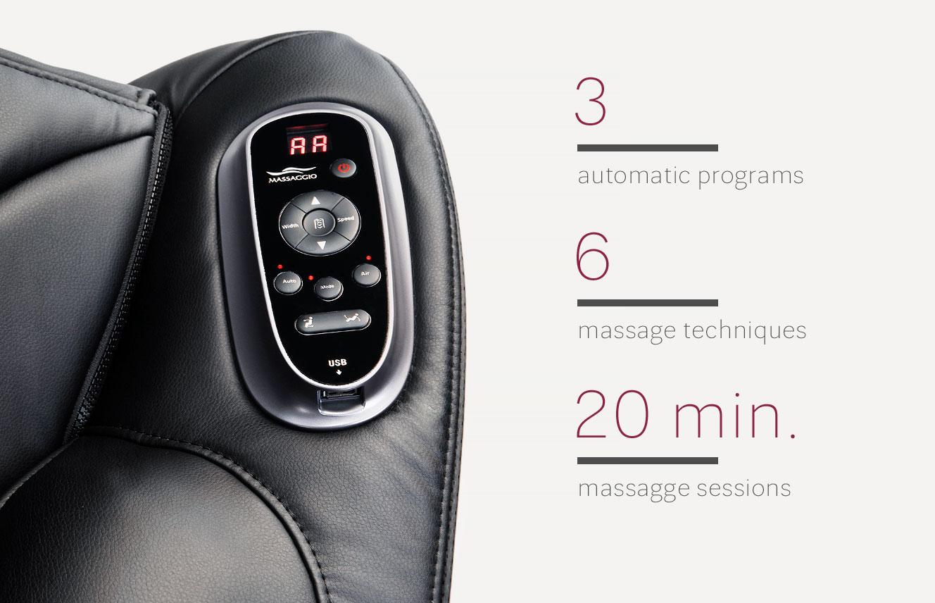 Automatic programs in Massaggio Bello 2