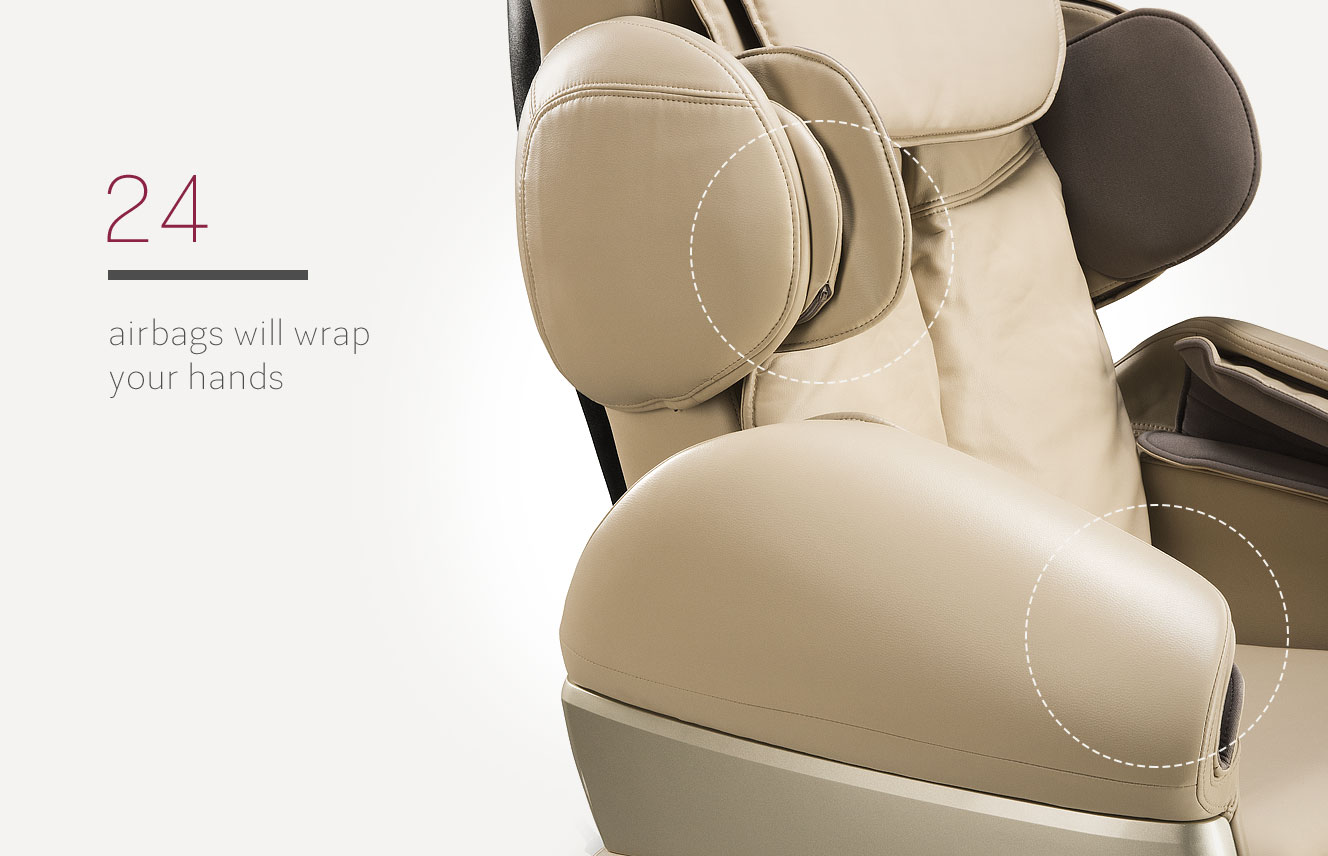 Massage armchair airbags