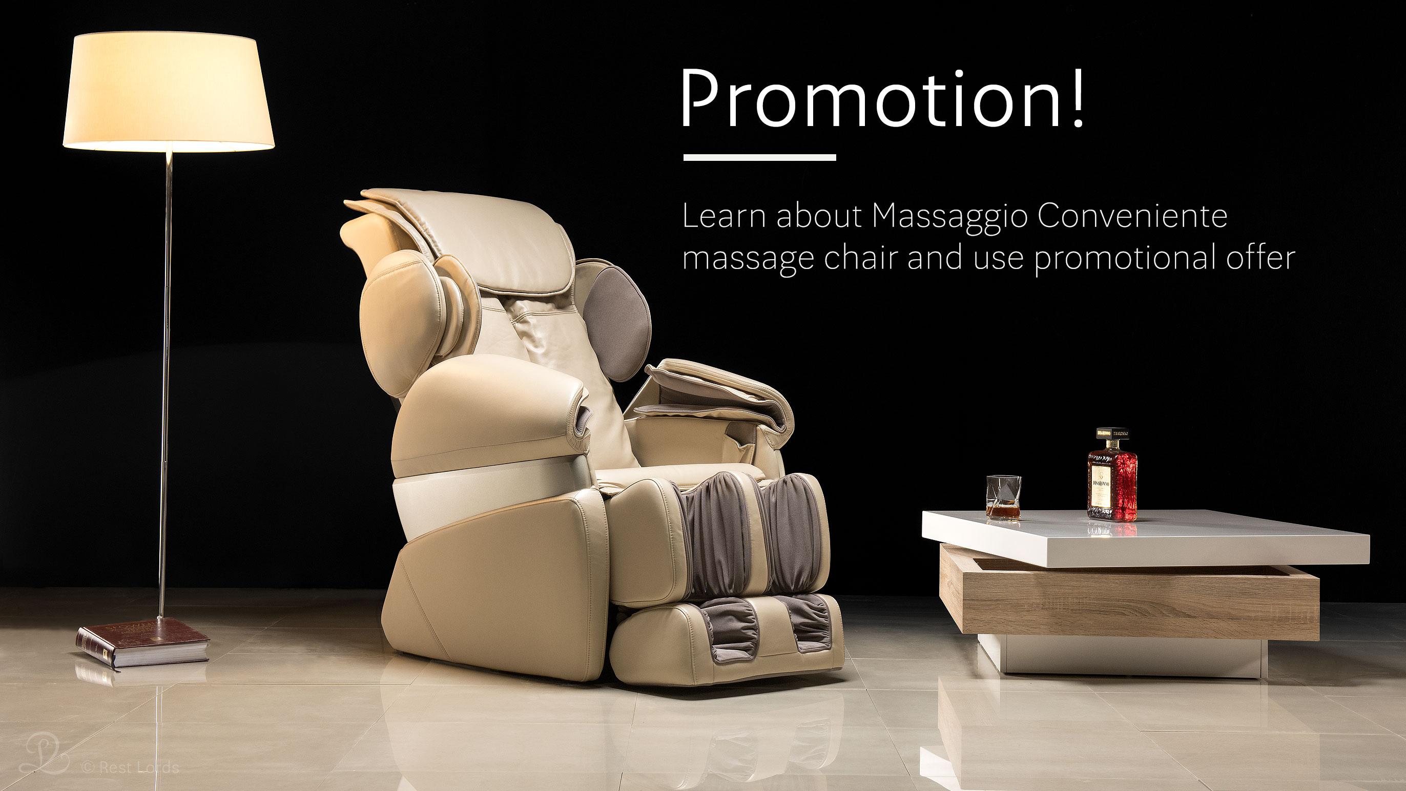 Massage chair Massaggio Conveniente on sale promotion