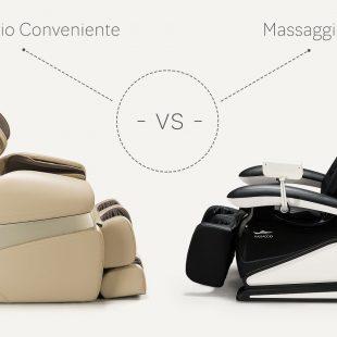 Massage chair Massaggio Conveniente vs Bello